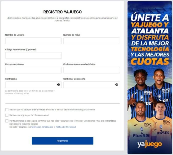 Registro Yajuego